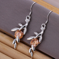 L-CE219 Fashion Jewelry Wholesale Hot sale Beautiful new 925silver Drop earrings 925 Sterling  for women free shipping