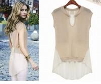 FREE SHIPPING! 2013 women blouses women summer shirts europe&america short-sleeve chiffon cheap t-shirt, size: S -X XL hot sale!