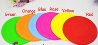 Free Shipping 10 pcs/lot Dia 7 inch Wholesale Soft Dog Puppy Frisbee