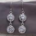 L-CE210 Fashion Jewelry Wholesale Hot sale Beautiful new 925silver Drop earrings 925 Sterling  for women free shipping