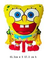10pcs/lot , spongebob Mylar balloon ,Cartoon balloon ,45X57cm