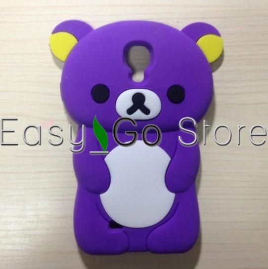 50pcs/lot Cute 3D Rilakkuma Bear Silicone Case Cover For Samsung Galaxy S4 i9500,Fedex EMS DHL Free Shipping(China (Mainland))