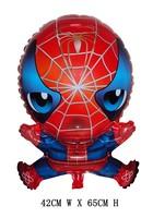 Free shipping, 10pcs/lot , spider-man Mylar balloon ,helium balloon ,42X65cm