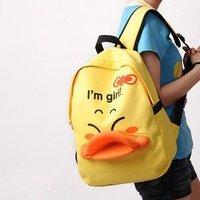 Duck Design Canvas Backpack Good quality Cartoon schoolbag shoulder bag