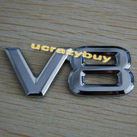 NEW Car Chrome Badge Emblem 3M Sticker V8  Letter for DIY decor