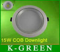 DHL FEDEX UPS TNT EMS free shipping 15W COB led downlight