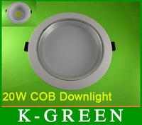 DHL FEDEX UPS TNT EMS free shipping super bright 20w COB led downlight