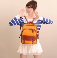 HOT Sale  PU backpack for lady schoolbag for girl 2 colors travelling bag