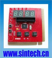 PCI+ISA 4 bits PC motherboard diagnostic test tester post debug card for Desktop
