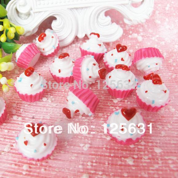 Free shipping!Min. order 15 USD+ No MOQ kawaii flat back resin food cabochons decoration Size: 20*18mm(China (Mainland))