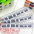 15cm ruler exquisite piano ruler black-and-white music ruler belt the scale(China (Mainland))