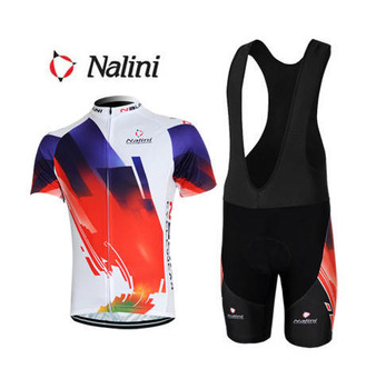 Free shiping new Nalini men women cycling wear summer Breathable quick-Dry cycling clothing short jerseys+bib shorts