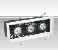 1head/3W,  2heads/6w, 3heads/9W  LED Grille Spot light Downlight 100-240V AC