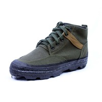 3539 wear-resistant outdoor hiking travel emancipatory shoe rubber shoes mens canvas shoes high waist swat shoes