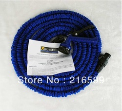 1pcs 75ft Garden water hose expandable flexible hose Standard Garden hose water pipe with water gun free shipping(China (Mainland))