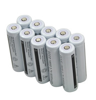 10pcs GOOD 18650 li-ion rechargeable battery 5000MAH FOR LED Flashlight Torch