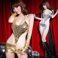 Ds costume bodysuit paillette fashion modern dance clothes twirled clothing set  club dresses