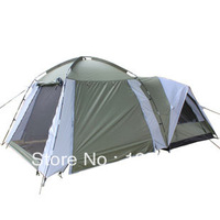 Outdoors Double Layer Camping Tents One room one hall camping tents 250*250*190cm
