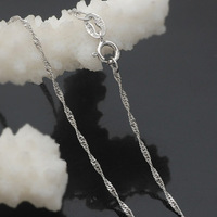 free shipping,silver plated necklace,chians for pendant 18 inch water wave chain for pendant.