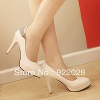 Free Shipping 2013 female's spring new arrival pluz size shoes platform fashion thin heels fashion women's high-heeled shoes