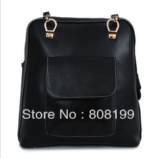 Ms. free shipping leather handbags Korean version of the influx package College Wind retro leather shoulder bag backpack shoulde(China (Mainland))