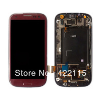 Wholesale LCD With Touch Screen Digitizer Assembly Replacement For Samsung Galaxy S3 III i9300 red
