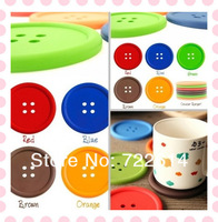 Colorful Button Coaster Cup Mug Mat Silicon Coffer Cup Pad Round