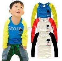 2014 new kids clothes 1~10 Age boys girls t shirt Multicolor optional  Children clothing  t shirts Mustache Children's T-shirt