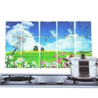 Free shipping Kitchen high-temperature oil with aluminum foil stickers - petals dandelion