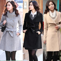 2012 slim woolen outerwear medium-long woolen overcoat female winter plus size clothing