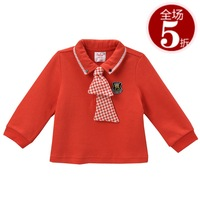 Baby2 spring 2013 children's clothing small male child fashion preppy style turn-down collar T-shirt