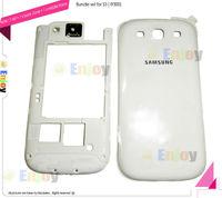 Middle housing Bezel Frame + Back cover set Replace for damaged Blue scratch Broken Samsung i9300 Galaxy S3 Original  2 in 1