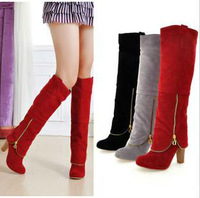 Free Shipping 2013 New Arrival Manie Fashion Winter High Heel Boots,Knee High Boots For Women