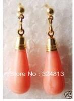 Faddish pink coral earrings   #1634