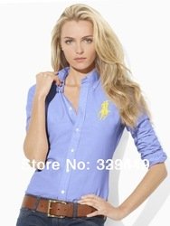 2013 women's brand long sleeve POLO shirt lady long sleeve Cotton Polo Shirts dress blouses top free shipping(China (Mainland))