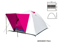 6-8 person Double layer outdoor camping tent Travel tents Assorted color pop up tent