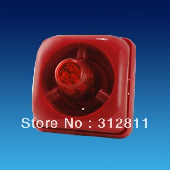 12V DC Strobe Siren Sound and Flash light For Fire alarm system(China (Mainland))