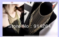 NEW Fashion Wholesale 6Strands Costume Jewelry Retro Alloy Long Chain Necklaces     free shipping