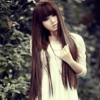 Non-mainstream wig girls long straight hair qi bangs fluffy repair medium-long short pear