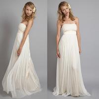 pretty girl white long chifon formal evening dresses