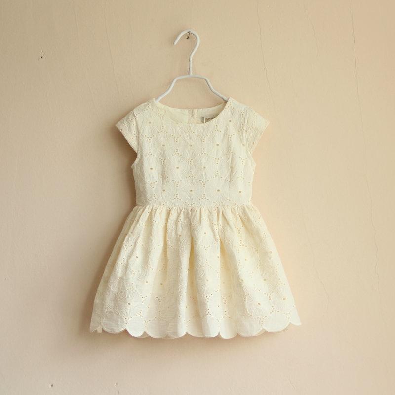 Lace Dress Cream-colored