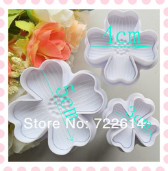 3x Lucky Clover Cake biscuit paste sugar craft decorating tools Cutters(China (Mainland))