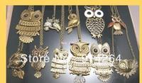 Wholesale Bulk 120pcs New Fashion Owl Mix Necklaces    free shipping
