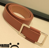 Choi Hoo stylish huge and offered Korean version of the influx of goods without pin buckle unisex belt men and women wild belt