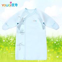Boneless baby newborn baby sleepwear robe 100% cotton spring and autumn