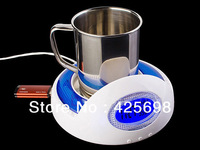 Factory retail price USB Warmer with speed HUB / USB Coffee cup / heating base /Display temperature and clock cute Free shipping