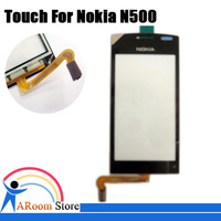 5pcs/lot,Black Color Touch Screen Digitizer For Nokia N500 Fate Touch Panel