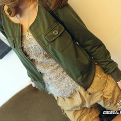 Free shipping 2013 spring cardigan summer women&amp;#39;s long-sleeve jacket casual coat zipper short jacket(China (Mainland))