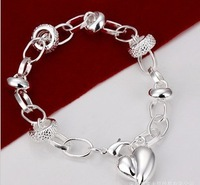 Silver plated 925 jewelry wholesale jewelry wild hanging Pursuit heart bracelet H123