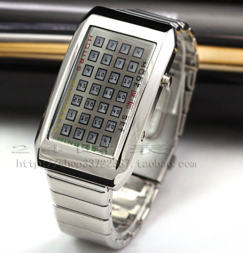 09 stunning led watch 72 lamp intercrew digital watch(China (Mainland))